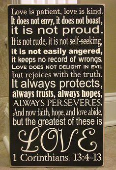 1 Cor 13: 4-13