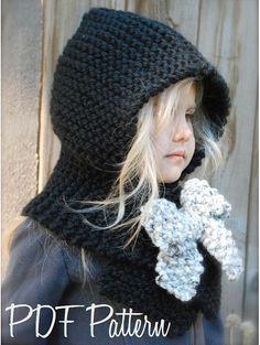 Knitting PATTERNThe Hayleigh Hood 12/18 months by Thevelvetacorn