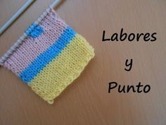 CÓMO TEJER EN COLORES - How to Knit with Two Colors - 2 agujas (409) - YouTube