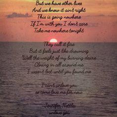 Unlove Me-Jennifer Nettles ❤ Country Music Quotes, Country Song Lyrics, Country Songs, Music Lyrics, I Cant Unlove You, Jennifer Nettles, July Quotes, Yours Lyrics, How I Feel