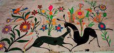Vintage folk art painting - Jardin de los Siervas, Hotel Belmar | Mazatlan, Sinaloa, Mexico