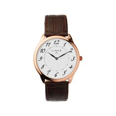 cool Links of London Narrative Womens Brown Leather Watch, Brown just added. Stainless Steel Jewelry, Stainless Steel Watch, Links Of London Watches, Bridesmaids Charms, Brown Leather Watch, Engraved Jewelry, Bead Jewellery, My Face Book, Rose Gold Plates