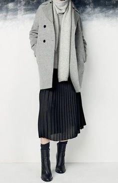 Image result for black pleated skirt