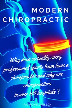 Why does virtually every professional sports team have a chiropractor and why are chiropractors in over 100 hospitals? Because modern chiropractic is evidence-based and not belief-based. Chiropractors try to correct the body's alignment to relieve pain and improve function. http://www.pacificwellness.ca/modern-chiropractic.html