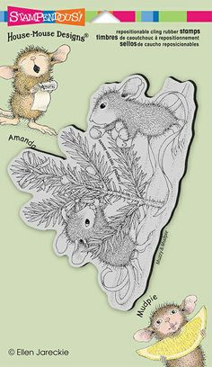Stampendous Cling Mounted Rubber Stamps - House Mouse Designs - Trim The Tree