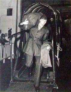 Jim arriving home from Korea