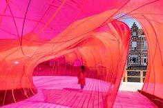 SelgasCano creates vivid-pink pavilion for Bruges architecture festival