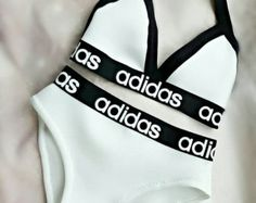 Reworked Black & white adidas set von croptopchannel auf Etsy