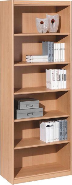 Dieses Regal aus ansprechender Buche-Nachbildung überzeugt durch seine hohe Funktionalität: 5 verstellbare Einlegeböden garantieren viel Platz für Ihre Bücher und Dekoration. Dank seines natürlichen Designs passt das Möbelstück in jedes Zimmer. Universal einsetzbar und in bestem Design: Dieses geschmackvolle Regal(B/H/T ca. 72/194/36 cm)ist unverzichtbar für Ihr Zuhause!