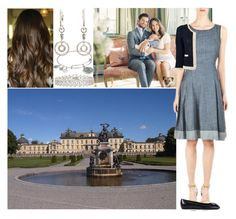 """""""Celebrating the 37th Birthday of her brother Carl Philip at Drottningholm Palace with the whole family"""" by deborawinter ❤ liked on Polyvore featuring 0039 Italy, Roger Vivier and Alex and Ani"""