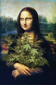 Different versions of Mona Lisa- Diferentes versões de Mona Lisa La Gioconda (or Mona Lisa) is the most emblematic work of Leonardo da Vinci. Several professional and amateur artists have created versions of this work with … different # versions - Cannabis Wallpaper, Weed Wallpaper, Aesthetic Art, Aesthetic Pictures, Mona Lisa Parody, Weed Art, Stoner Art, Dope Art, Weed Humor