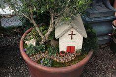 John Millman's teeny church garden ~  by Danielle Osfalg, via Flickr