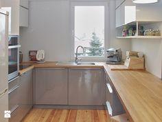 MIESZKANIE W BLOKU - Średnia zamknięta kuchnia w kształcie litery u, styl nowoczesny - zdjęcie od LUIZA STAR