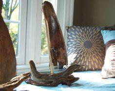 Driftwood Sailboat Driftwood Sculpture Driftwood di TheCharmedCove