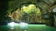 "Phang Nga Bay - Thailand - would love to kayak through these ""hongs"" or rooms."