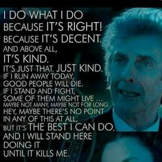 Doctor Who best quote to live by