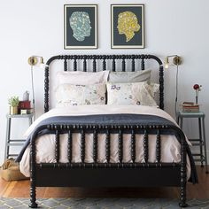 Schoolhouse Electric Bedroom, Fall 2014 - Should I paint my guest room Jenny Lind black?