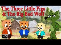 The Three Little Pigs and Big Bad Wolf | Fairy Tales for Children - YouTube