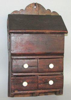 Salt box over 4 drawers.   Sold  Ebay   210.00