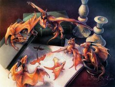 Baby dragons fleet. A Book Comes to Life. © Carolyn Moskowitz