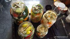 Gogonele murate la borcan reteta pas cu pas   Savori Urbane Pickles, Cucumber, Mason Jars, Urban, Food, Anastasia, Blue Prints, Canning, Romanian Recipes