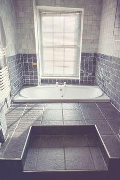 The Grey Stone Bathroom at Sedgeford Hall Norfolk Wedding and Event Venue - Holiday Cottages Stone Bathroom, Grey Stone, Event Venues, Norfolk, Cottages, Bathtub, Holiday, House, Wedding