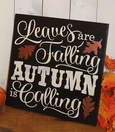 Items Similar To FALL Sign/Leaves Are Falling Autumn Is Calling/Subway  Style/Autumn/Typography/Fall Decoration/Wood Sign/Hand Painted/Black/Bronze  On Etsy