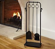 Industrial Fireplace Tool Set | Pottery Barn