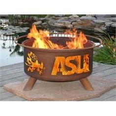 Arizona State University Sun Devils Portable Steel Fire Pit Grill