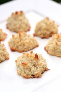 Coconut Macaroons:     1 Vanilla Bean Pod      1/2 cup Maple Syrup, Grade B      3 cup Shredded Coconut      6 Egg Whites