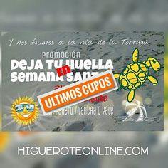 Isla de la Tortuga en Semana Santa.  Últimos cupos. Paquetes de 2 y 3 días Todo Incluido saliendo desde Higuerote. Resérvalo Ya!!! #isladelatortuga #islalatortuga #islasdevenezuela #playa #playas #arenitaplayita #Higuerote #Barlovento #Miranda #Venezuela #turismo #viajar #vacaciones #paquetes #paseos #promocion #paquetes #semanasanta #temporada