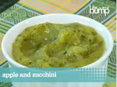 Apple Zucchini Puree #recipe from Sage Spoonfuls