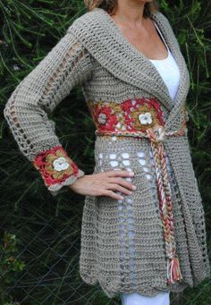 wunderbare Häkeljacke als Inspiration ----- wonderful jacket to crochet for inspiration - found here: https://www.facebook.com/LaProfeDeSanMateo/photos/a.774643539288234.1073741962.404170699668855/845757922176795/?type=3&theater