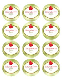 These amazingly cute round labels for your canning jars created by Ink Tree Press are printable fillable PDF Templates. Canning Jar Labels, Spice Jar Labels, Canning Recipes, Jam Label, Decoupage Printables, Food Jar, Label Templates, Printable Labels, Free Printables
