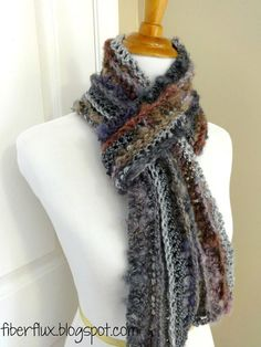 Learn how to crochet the Pixie Dust Scarf with this easy tutorial! Visit the Fiber Flux blog for free patterns & tutorials: http://fiberflux.blogspot.com/ © ...