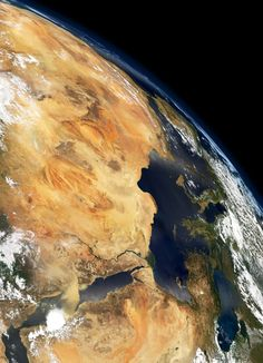 awesome The Earth from Space (north east Africa, Egypt, Nile River and Middle East regio...