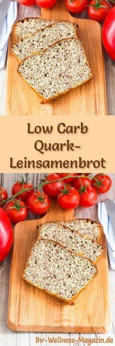 Rezept für Low Carb Quark-Leinsamenbrot: Kohlenhydratarm, ohne Getreidemehl, gesund und gut verträglich ... #lowcarb #brot #backen
