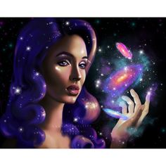 Digital painting of a woman's portrait, creating galaxies. Made on iPad Pro with procreate. Digital Portrait, Digital Art, Character Inspiration, Character Art, Galaxy Art, Girl Wallpaper, Types Of Art, Love Is All, Art Inspo