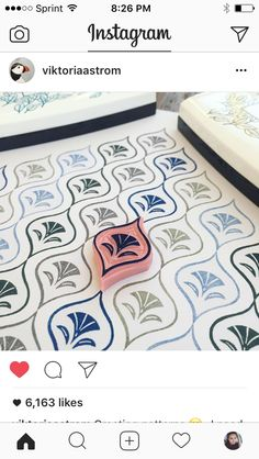 Printing a pattern with a block.. use a grid paper- This image is from Victoria Storm Instagram account