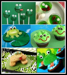 "Birthday Ideas for my son's Josh's Leap Year Birthday!  He turns ""4"" tomorrow in Leap years! http://divinepartyconcepts.com/wp-content/uploads/2012/02/Frog-treats.jpg"