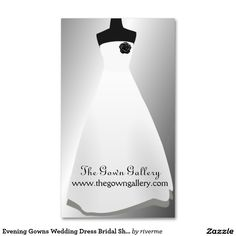 Evening Gowns Wedding Dress Bridal Shop Pack Of Standard Business Cards