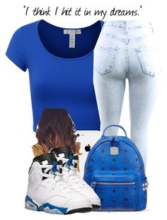 """""""JORDANS #20"""" by theuniquedasia ❤ liked on Polyvore featuring J.TOMSON, MCM and Retrò"""
