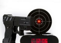 Lock N' Load Gun Alarm Clock – start your day with a bang