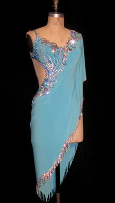 """Edge finishing (stoned """"fringe"""") I can sew this! Latin Ballroom Dresses, Latin Dresses, Ballroom Dancing, Ballroom Costumes, Dance Costumes, Salsa Dress, Tango Dress, Dance Outfits, Dance Wear"""