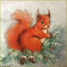 Illustration Noel, Winter Illustration, Christmas Illustration, Illustrations, Christmas Animals, Christmas Colors, Christmas Art, Vintage Christmas Images, Christmas Pictures