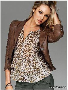 Леопард+коричневый - беспроигрышное сочетание
