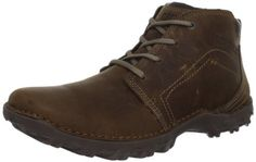 Caterpillar Men's Transform Boot Caterpillar. $64.63. Rubber sole. Pull Up Leather upper. Removable EVA Sock Liner. Cement construction. Nylon mesh lining. Rubber outsole. leather