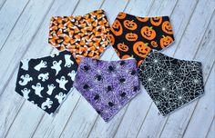 Baby Halloween, Baby Halloween Bandana Bibs, Halloween Bibdanas, Baby Halloween…