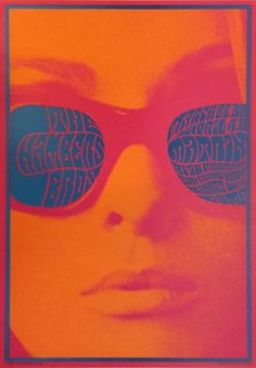 Victor Moscoso's classic concert poster in the Neon Rose series advertising The Chambers Brothers at San Francisco's Matrix, in March 1967.