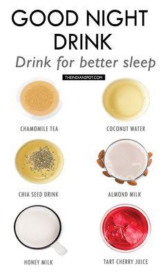 NATURAL DRINKS TO HELP GET BETTER SLEEP
